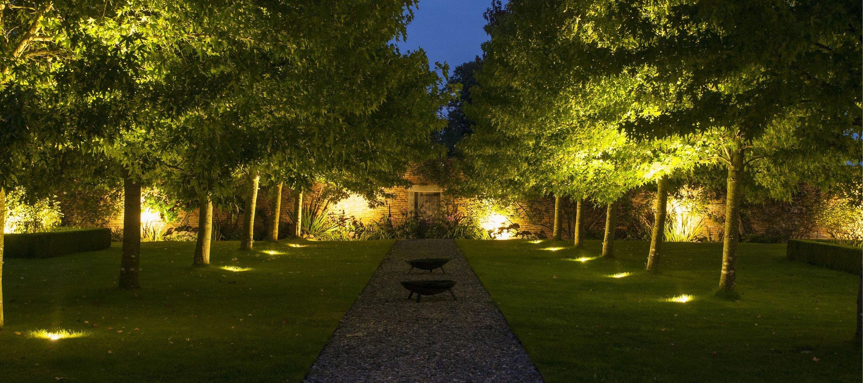 Langley-Park-formal-garden-night