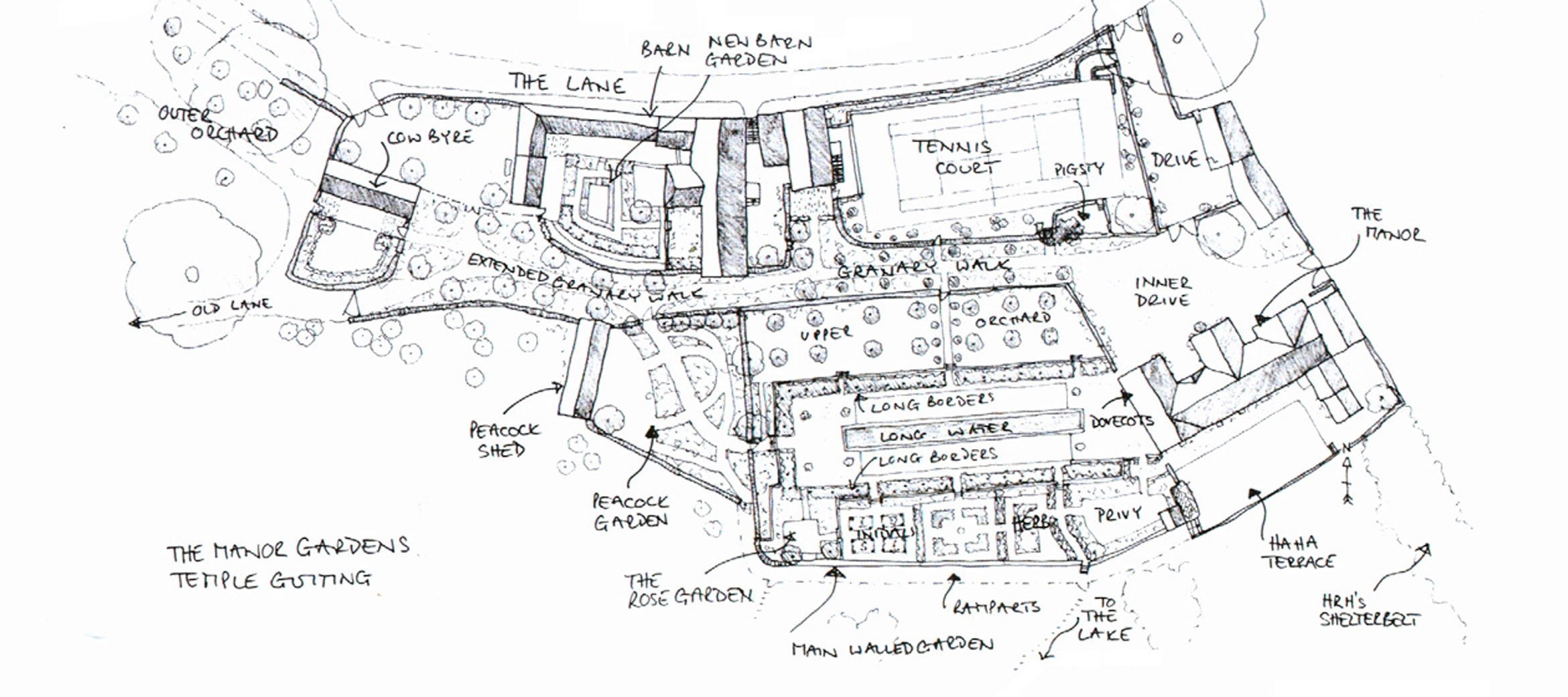 View the floorplan of Temple Guiting Barn & Cottage