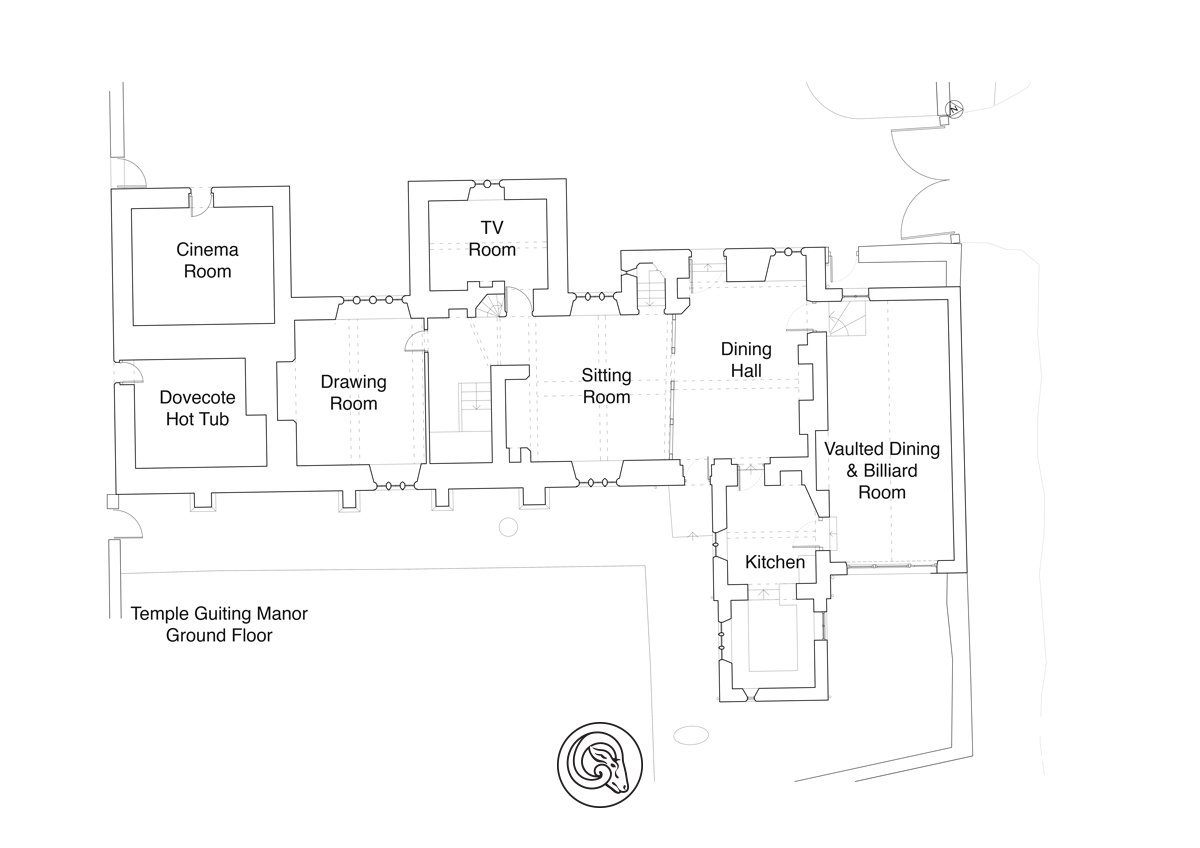 View the floorplan of Temple Guiting Manor