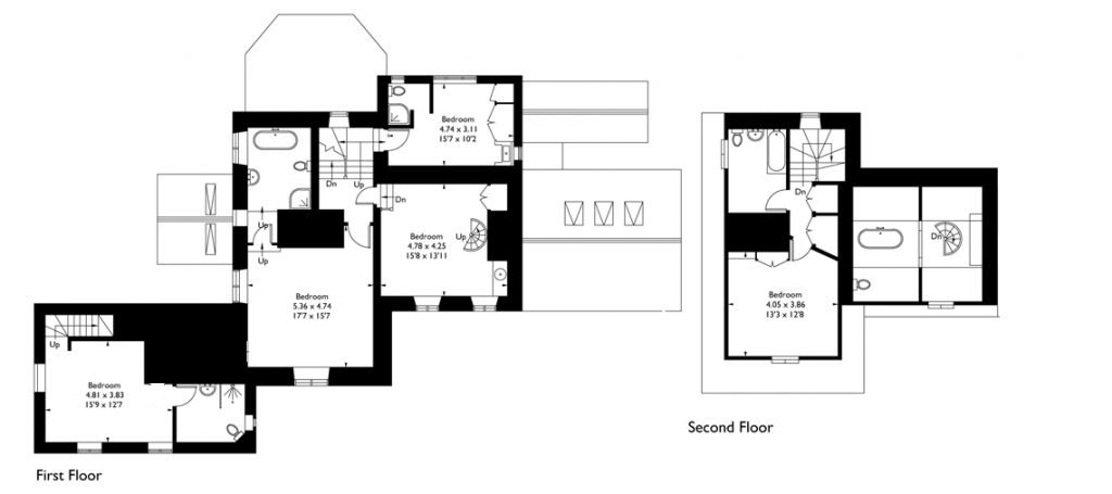 View the floorplan of Dryhill House & Cottage
