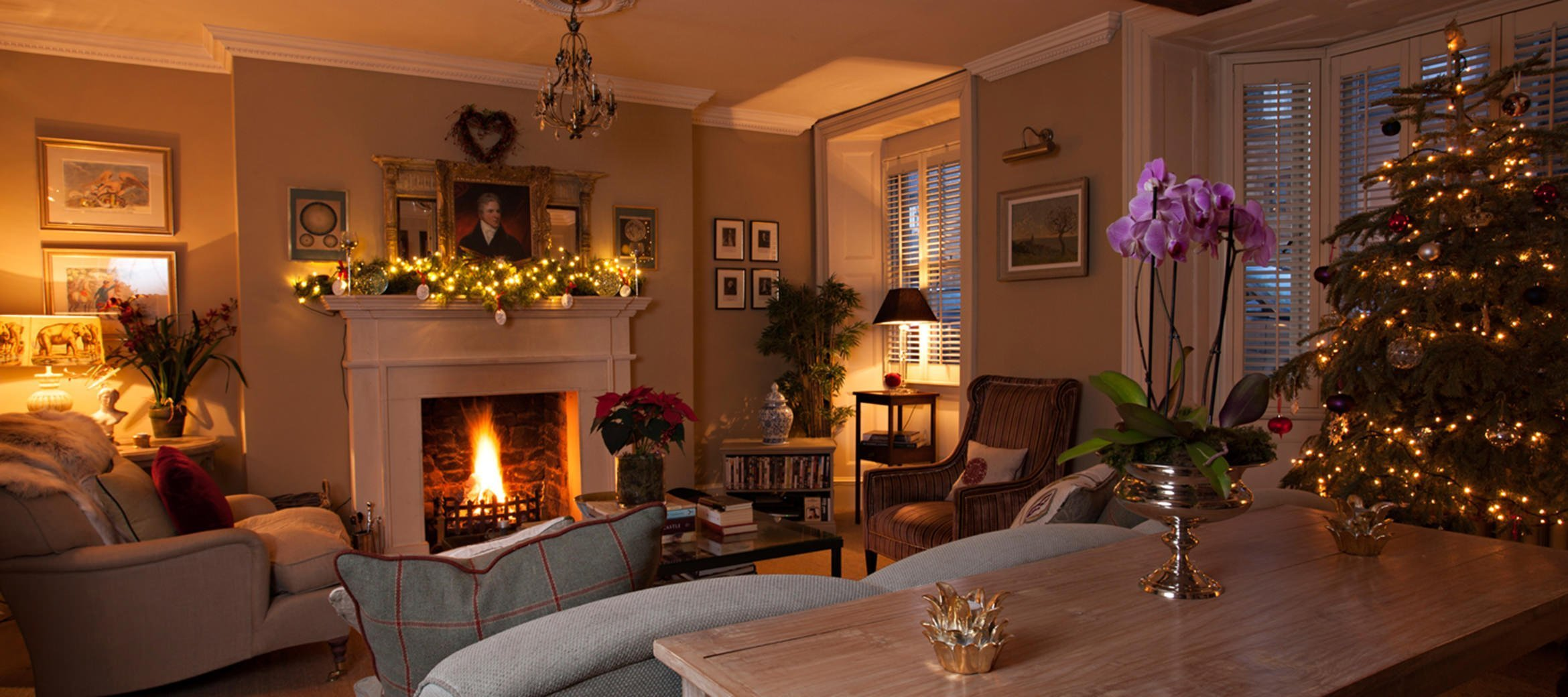 Christmas Decorated Rooms Singer House Chipping Campden Luxury Cotswold Rentals