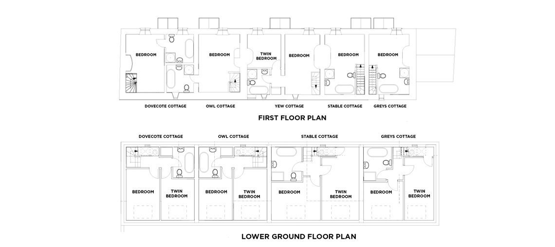 View the floorplan of Grey's Court Cottages
