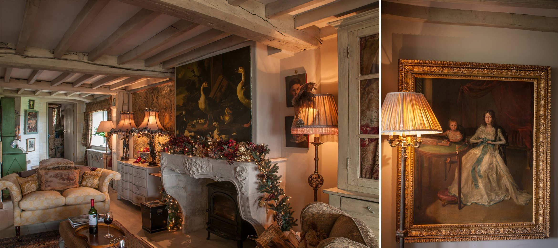 sixpenny-cotswold-cottage-drawing-room-oil-painting